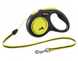 Inerces pavada suņiem – Flexi New Neon Cord S 5 m