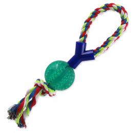 Rotaļlieta suņiem – Dog Fantasy Dental Mint Baseball with Y-shaped Cotton Rope, 7 x 40 cm