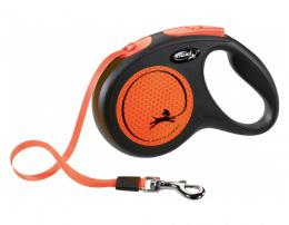Поводок-рулетка для собак – Flexi New Neon Tape M 5 м, Orange