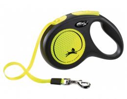 Поводок-рулетка для собак – Flexi New Neon Tape M 5 м