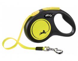 Поводок-рулетка для собак – Flexi New Neon Tape S 5 м