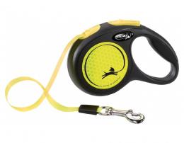 Поводок-рулетка для собак – Flexi New Neon Tape XS 3 м
