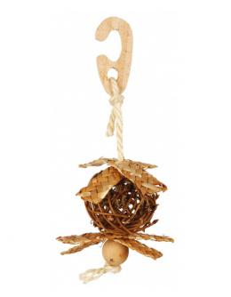 Игрушка для птиц – TRIXIE Wicker ball, 5,5 см/18 см