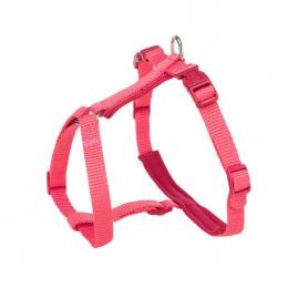 Шлейка с поводком для кошек – Trixie, Premium cat harness with leash, 33-57 см /13 мм, 1,20 м, coral
