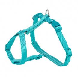 Шлейка с поводком для кошек – Trixie, Premium cat harness with leash, 33-57 см / 13 мм, 1,20 м, ocean