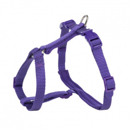 Шлейка с поводком для кошек – Trixie, Premium cat harness with leash, 33-57 см / 13 мм, 1,20 м, violet