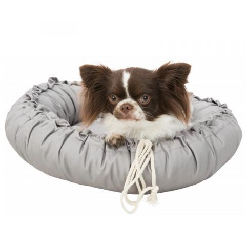 Лежанка для кошек и собак – Trixie, Felia bed/cushion, round, 60 см, taupe title=
