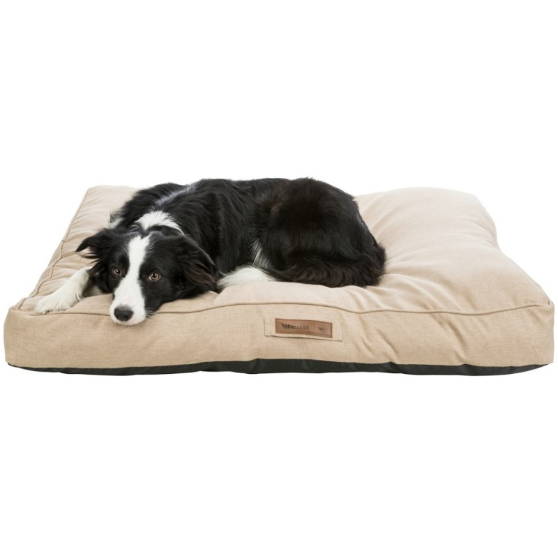 Лежанка для собак – TRIXIE, Lona cushion, square, 90 x 65 см, Sand