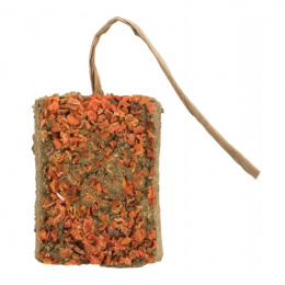 Пищевая добавка для грызунов – TRIXIE Clay brick with carrots, 100 г
