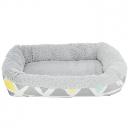 Guļvieta grauzējiem – Trixie, Bunny cuddly bed, square, plush, 30 x 6 x 22 cm, multi coloured and grey
