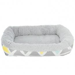Guļvieta grauzējiem – Trixie, Bunny cuddly bed, square, plush, 38 x 7 x 25 cm, multi coloured and grey