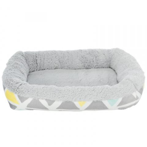Лежанка для грызунов – Trixie, Bunny cuddly bed, square, plush, 38 x 7 x 25 см, multi coloured and grey title=