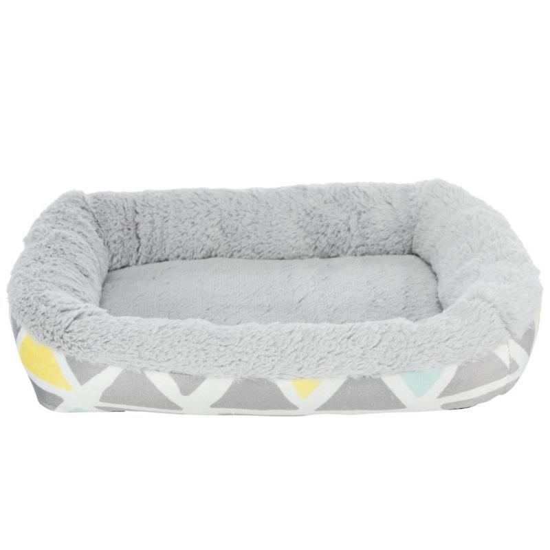 Лежанка для грызунов – Trixie, Bunny cuddly bed, square, plush, 38 x 7 x 25 см, multi coloured and grey