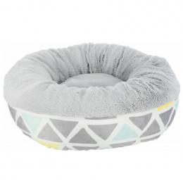 Guļvieta grauzējiem – Trixie, Bunny cuddly bed, round, plush, 35 x 13 cm, multi coloured and grey