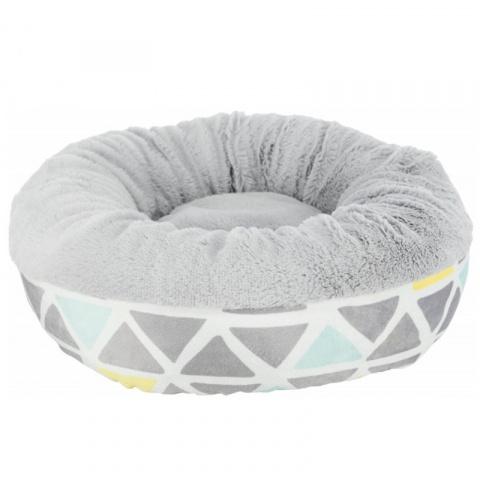 Лежанка для грызунов – Trixie, Bunny cuddly bed, round, plush, 35 x 13 см, multi coloured and grey title=