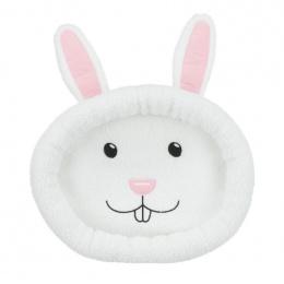 Лежанка для грызунов – Trixie, Rabbit face cuddly bed, oval, 40 x 33 cm, wool-white