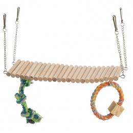 Мостик в клетку - Trixie, Suspension bridge with rope and toy, 30 x 17 x 9 см