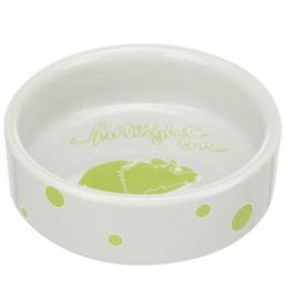 Керамическая миска для грызунов - Trixie, Bowl, comic hamsters, ceramic, 90 мл, 8 см