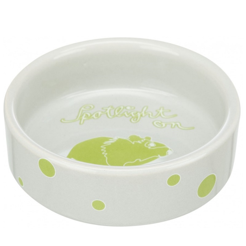 Keramikas bļoda grauzējiem – Trixie, Bowl, comic hamsters, ceramic, 90 ml, 8 cm