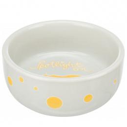 Керамическая миска для грызунов - Trixie, Bowl, comic guinea pigs, ceramic, 250 мл, 11 см