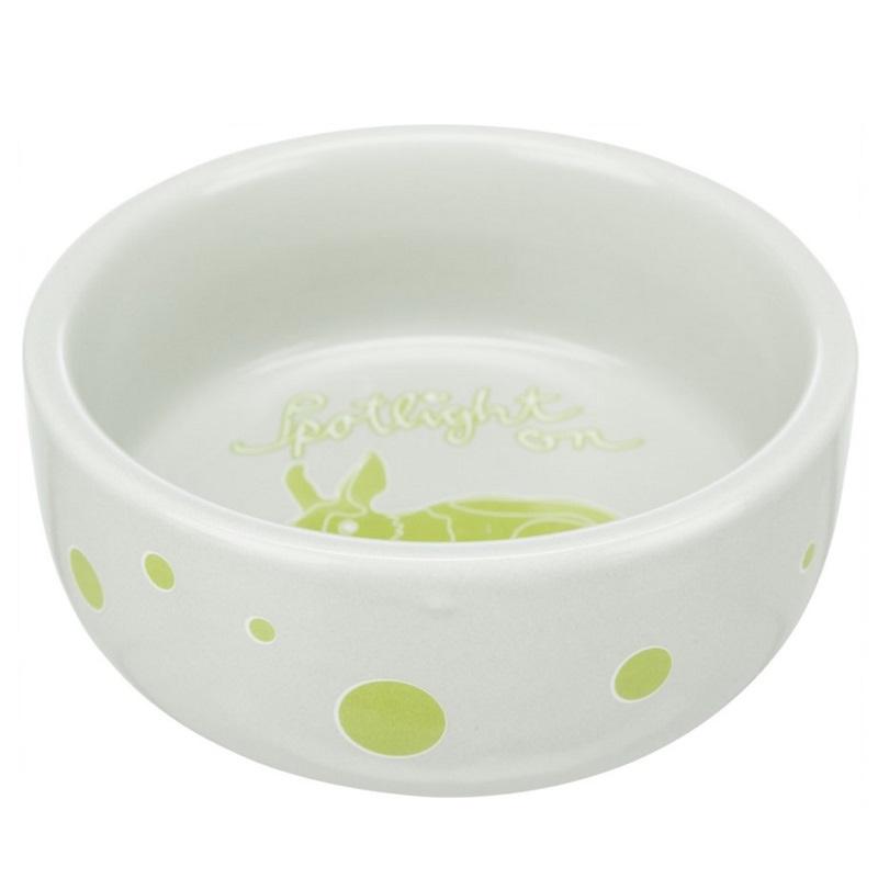 Keramikas bļoda grauzējiem – Trixie, Bowl, comic rabbits, ceramic, 250 ml, 11 cm