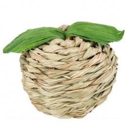 Игрушка для грызунов - Trixie, Apple with maize husk, grass, 7 см