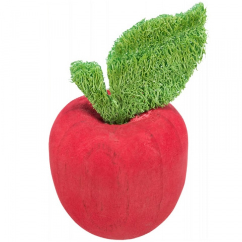 Игрушка для грызунов - Trixie, Apple, wood and loofah, 5,5 x 9 см title=