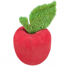 Rotaļlieta grauzējiem – Trixie, Apple, wood and loofah, 5,5 x 9 cm