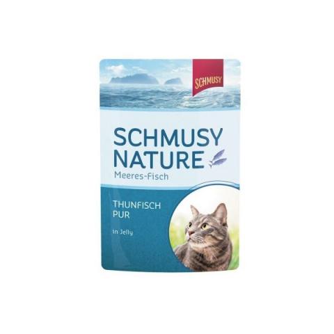 Konservi kaķiem - Schmusy Fish Tuna in Jelly, 100 g title=