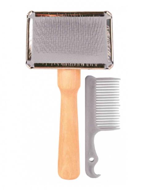 Ķemme dzīvniekiem – TRIXIE Soft Brush, 6 x 13 cm, dažādas krāsas title=