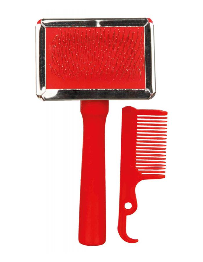 Расческа для животных – TRIXIE Soft Brush, 6 x 13 cм, различные цвета