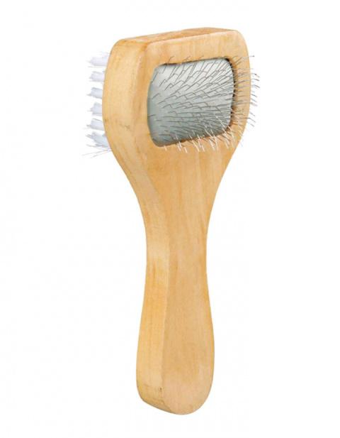 Ķemme suņiem – TRIXIE Soft Brush, double sided, 6 x 13 cm title=