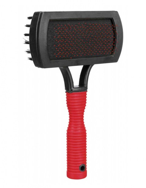 Расческа для собак – TRIXIE Soft Brush, double sided, 10 x 17 см title=