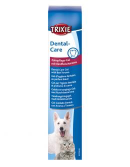 Зубная паста для животных – TRIXIE Dental hygiene gel with beef flavour, dog/cat, 100 г