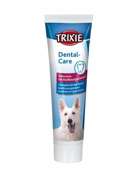 Zobu pasta suņiem – TRIXIE Toothpaste with Meat Flavour, 100 g title=