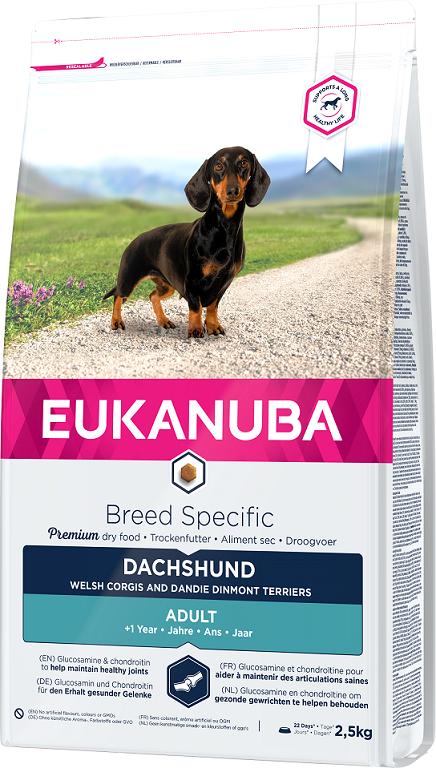 Barība suņiem - Eukanuba Adult Dachshund, 2.5 kg