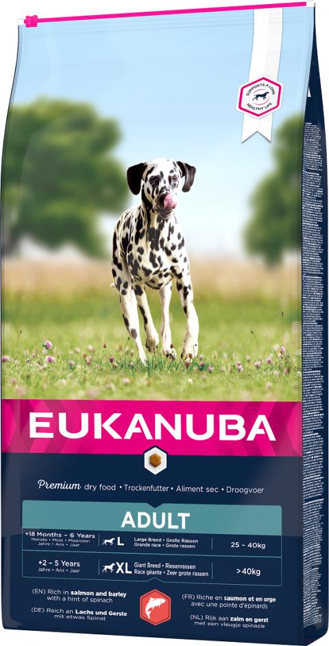 Корм для собак - Eukanuba Adult Salmon, 12 кг title=