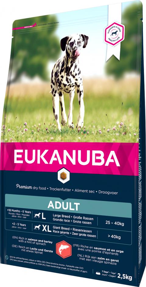 Корм для собак - Eukanuba Adult Salmon 2.5kg