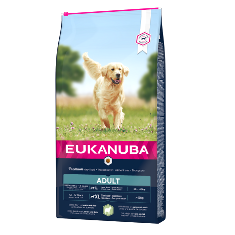 Barība suņiem - Eukanuba Adult Large Breed Lamb and Rice, 12 kg title=