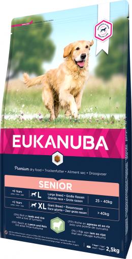 Barība suņiem - Eukanuba Senior Large Breed Lamb and Rice, 2,5 kg