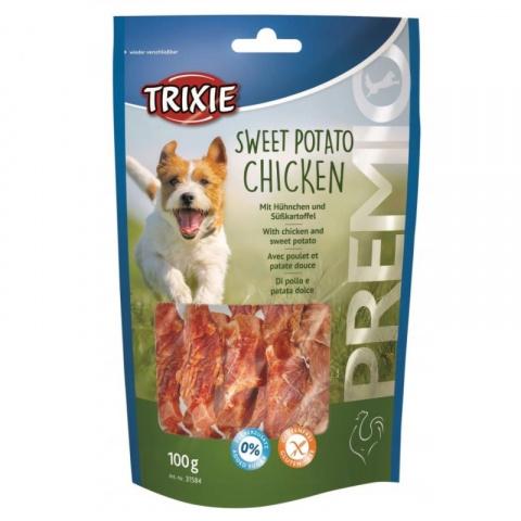Лакомство для собак - Trixie, PREMIO Sweet Potato Chicken, 100 г  title=