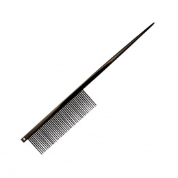 Расческа для собак - Groom Professional, Black Titanium Coated Tail Comb, 19 см
