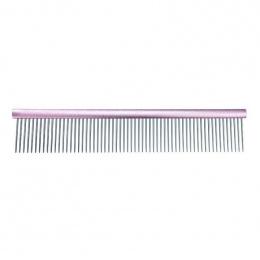 Расческа для собак - Groom Professional, Spectrum Aluminium Comb, Light Pink, 25 см