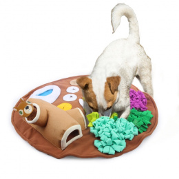 Игрушка для собак – AFP Dig It Round Fluffy Mat With Cute Toy