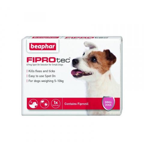Līdzeklis pret blusām, ērcēm suņiem – Beaphar Fiprotec dog, 2–10 kg, 1 pip. bezrecepšu vet. zāles, reģ. NR. VA - 072463/3 title=