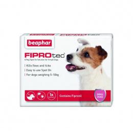 Препарат против блох, клещей для собак – Beaphar Fiprotec dog, 2–10 кг, 1 пипетка, безрецептурный препарат, reģ. NR - VA - 072463/3