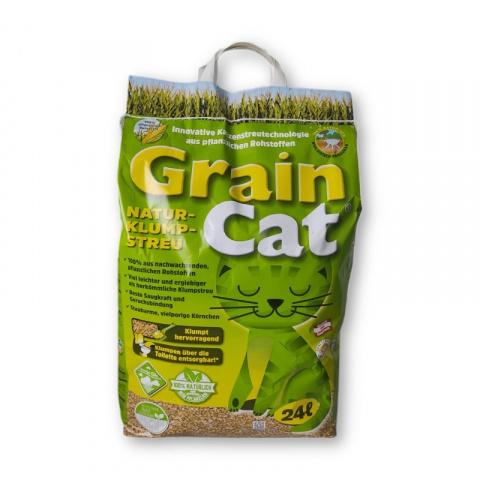 Кукурузный наполнитель для кошачьего туалета - GrainCat, 24 L title=