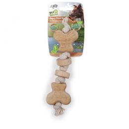 Rotaļlieta suņiem – AFP Wild and Nature Ropey Wood Bone, S