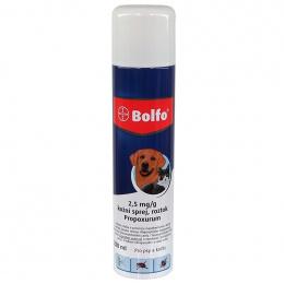 Препарат против блох, клещей для собак и кошек - Bolfo аэрозоль, пропоксур, 2,5 мг, безрецептурный препарат VZR Reg.nr: VA - 072463/3