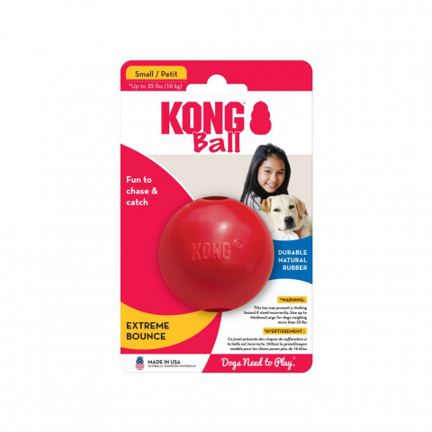 Игрушка для собак – KONG Ball, S, Red title=